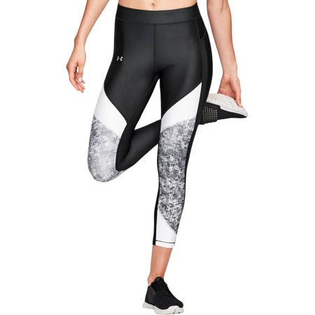 Under Armour Womens Colorblock Ankle Athletic Leggings B/W L