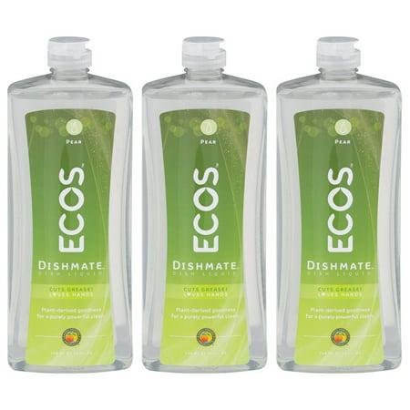 Dishmate Dishwashing - (3 Pack) ECOS Dishmate Dish Liquid, Pear, 25 fl oz
