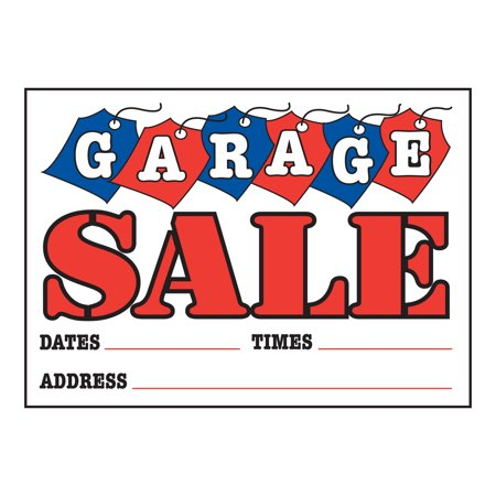 Garage Sale Sign with Tags