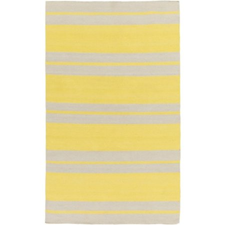 8 X 10 Straight Path Jasmine Yellow And Beige Hand Woven Area Throw Rug