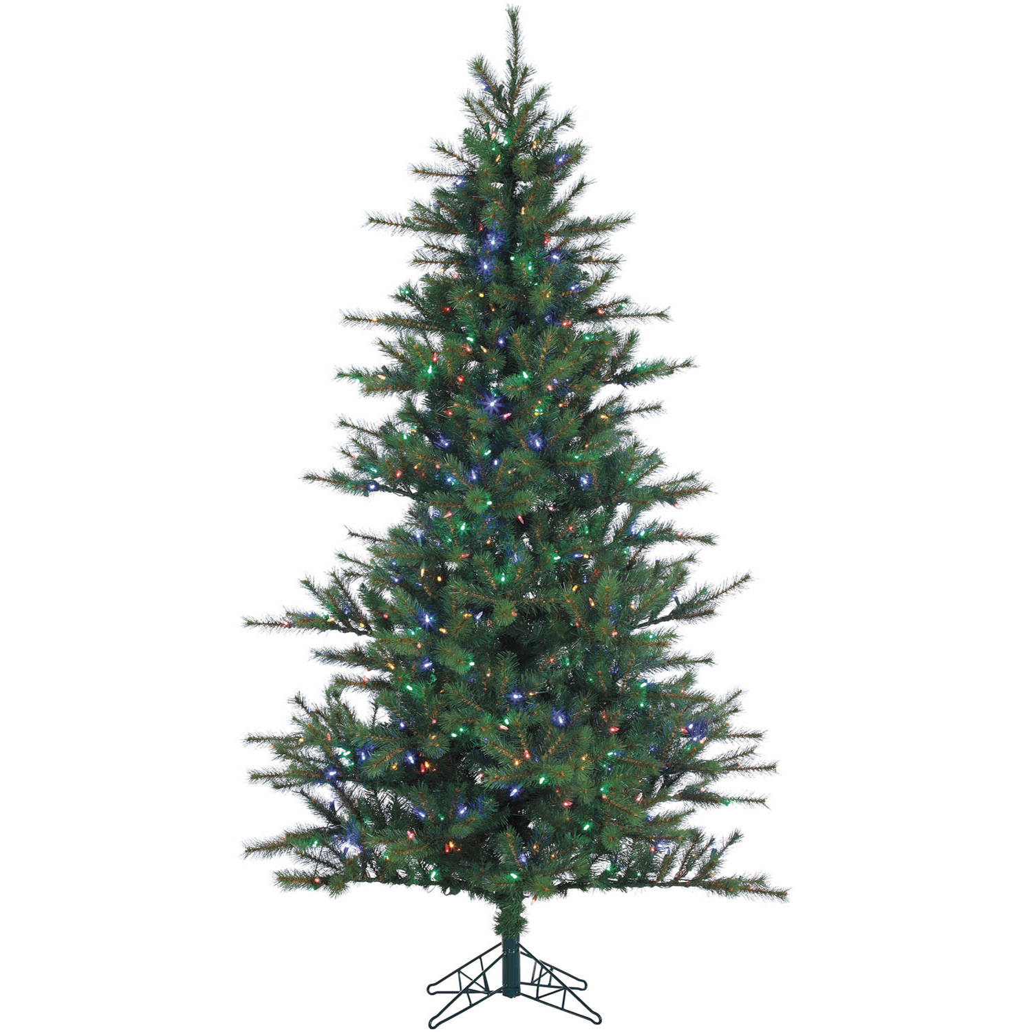 Fraser Hill Farm Pre-Lit 7.5' Southern Peace Pine Artificial Christmas Tree with Multi-Color LED String Lighting