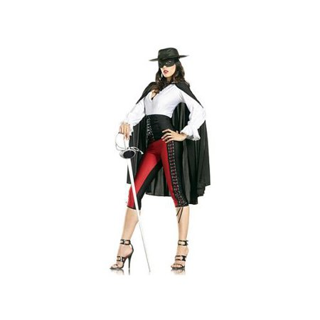 Be Wicked Sexy Bandit Costume Bw1122 Black  Medium Large Small Medium
