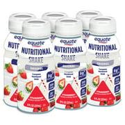 Equate Original Nutritional Shakes, Strawberry, 8 Fl Oz, 6 Ct