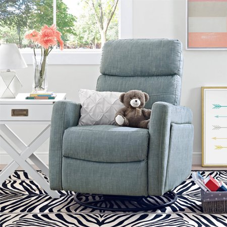 Baby Relax Alexis Swivel Gliding Recliner  Dove Gray