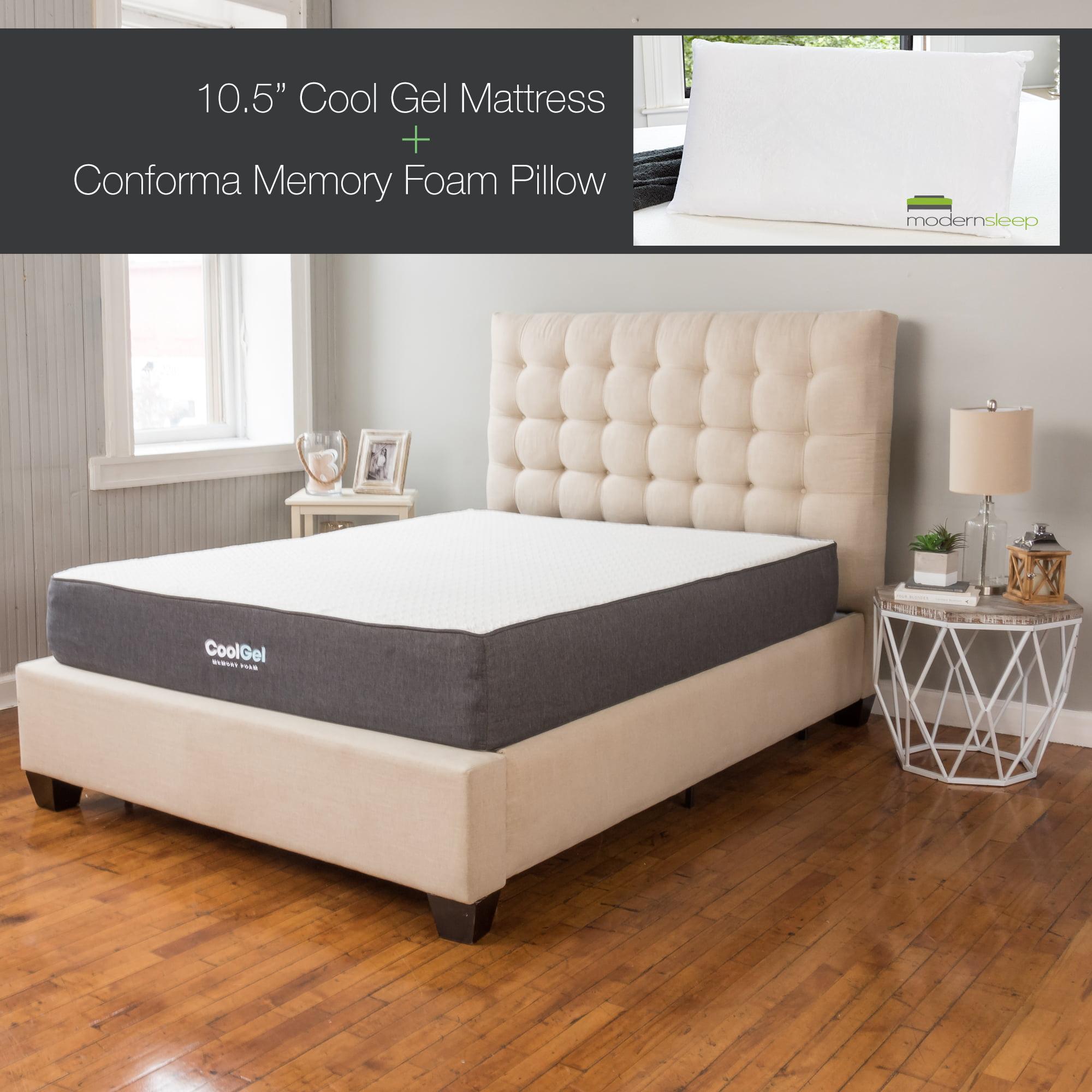 Modern Sleep Foam 10.5-Inch Cool Gel Ventilated Gel Memory Mattress by Classic Brands