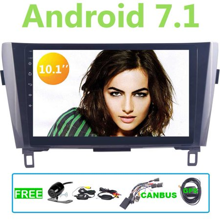 Eincar GPS Car Radio Stereo with Quad-core Android 7 1 in Dash GPS  Navigation 10 1 inch For Nissan QashQai/X-Trail Headunit support Wifi 4G/3G  OBD