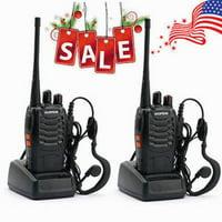 Ktaxon 2Pcs Baofeng BF-888S 5W 400-470MHz 16CH Handheld Walkie Talkies + Free Headset