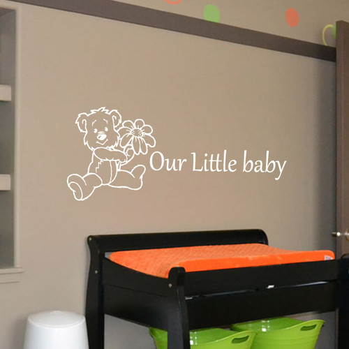 Fox Hill Trading Our Little Baby Vinyl Wall Decal