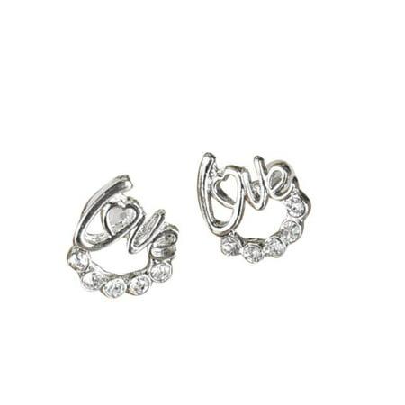 Outtop 1 Pair Women Lady Elegant Crystal Rhinestone Ear Stud Earrings New Fashion (New Elegant Ladies Crystal)