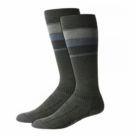 Wigwam Made In USA Tall Trekker Fusion Socks Olive Green Unisex Large
