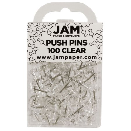 Clear Paper (JAM Paper Push Pins, Clear PushPins,)