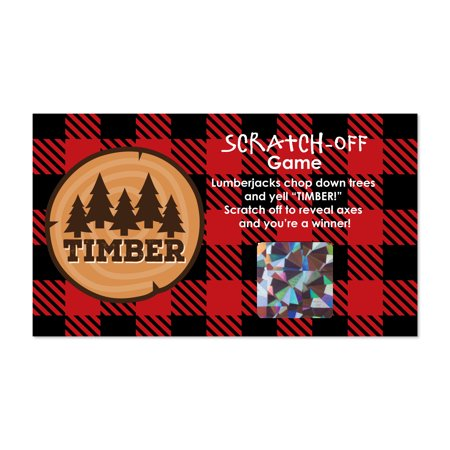 Lumberjack Party (Lumberjack - Channel The Flannel - Buffalo Plaid Party Scratch Off Cards - 22)