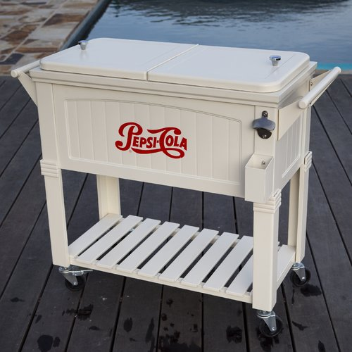 Permasteel 80 qt. Rolling Patio Cooler Furniture Style