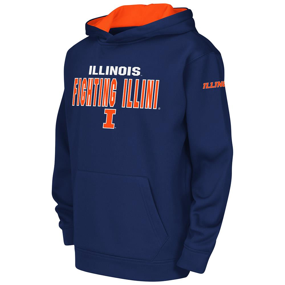 Youth NCAA Illinois Fighting Illini Poly Pull-over Hoodie