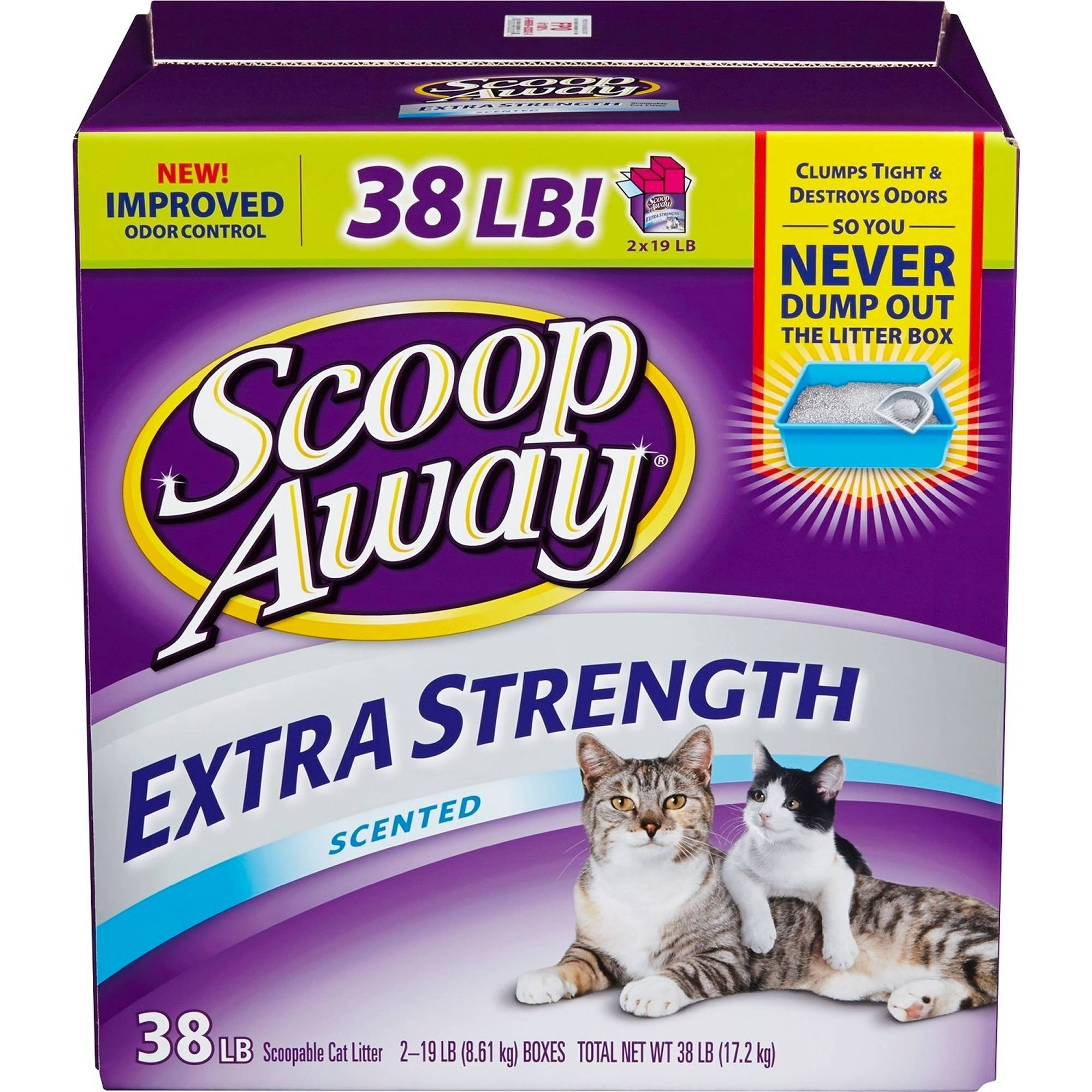 Scoop Away Extra Strength, Scented Cat Litter, 38 lb Box
