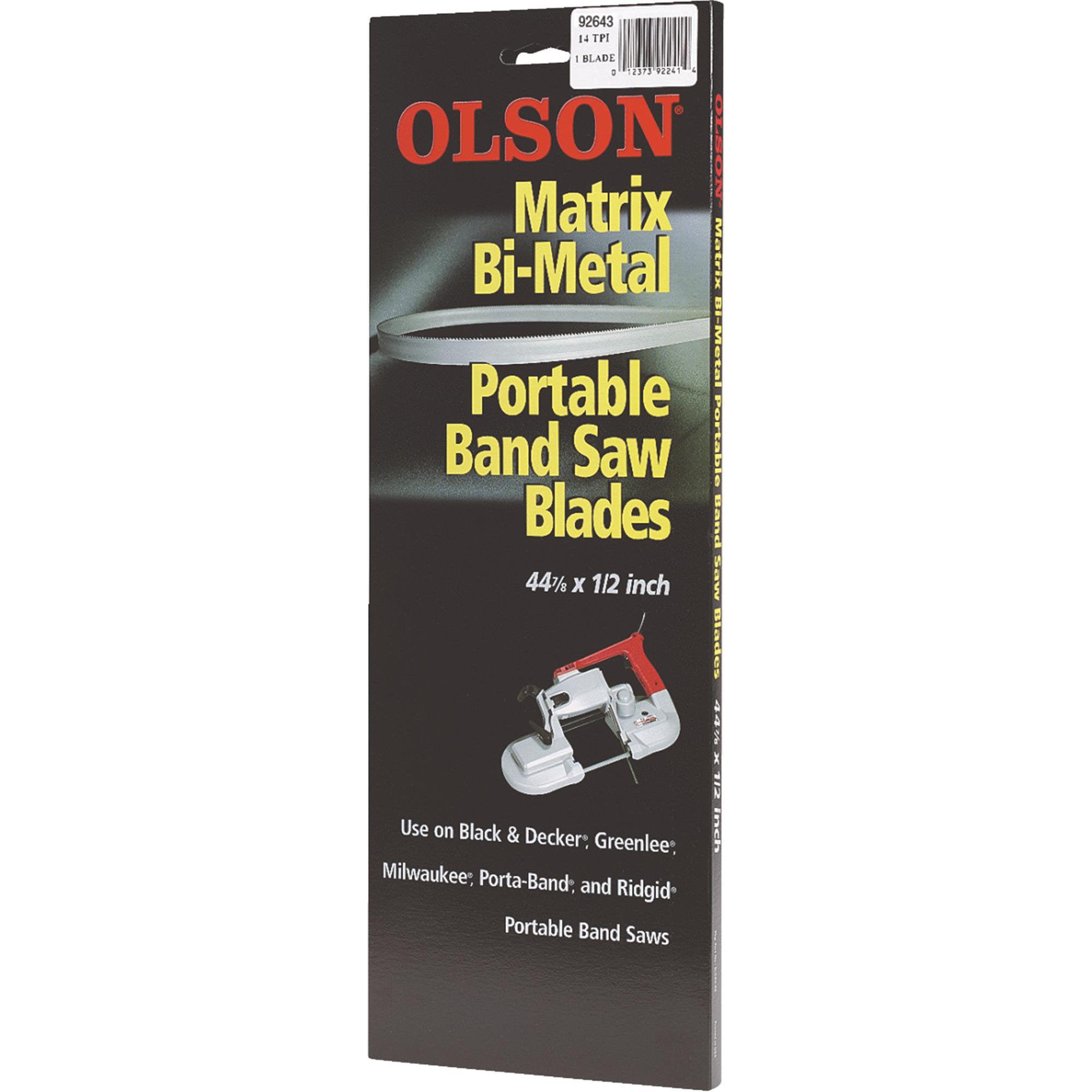 Olson Metal Cutting Band Saw Blade