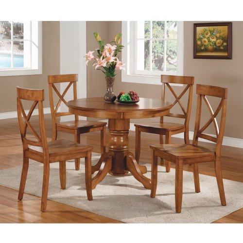 Home Styles Round Pedestal 5-Piece Dining Set