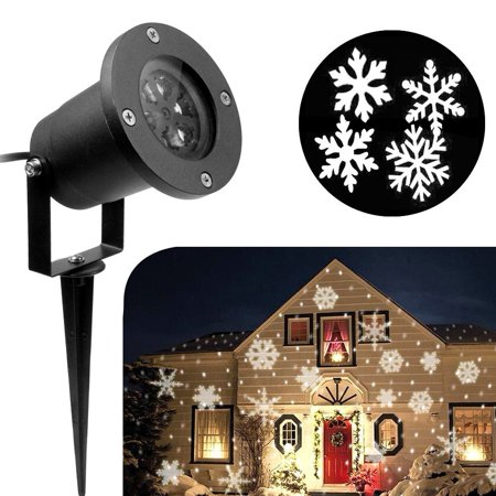 CHRISTMAS HOLIDAY LED LIGHT PROJECTOR WATERPROOF SNOWFLAKES - Christmas Projects For Preschoolers