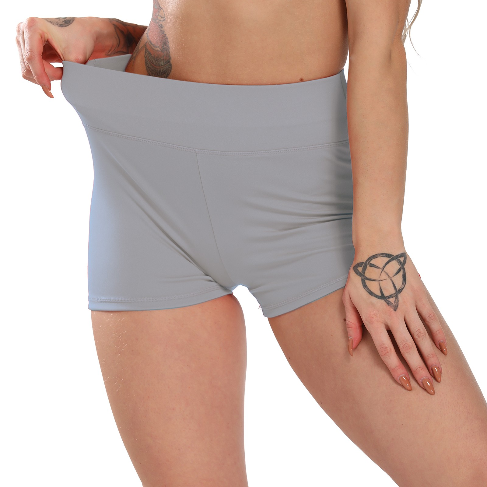 Blue S VIccoo Shorts Women High Waist Stretch Workout Shorts Butt Lift Stripes Yoga Shaping Pants