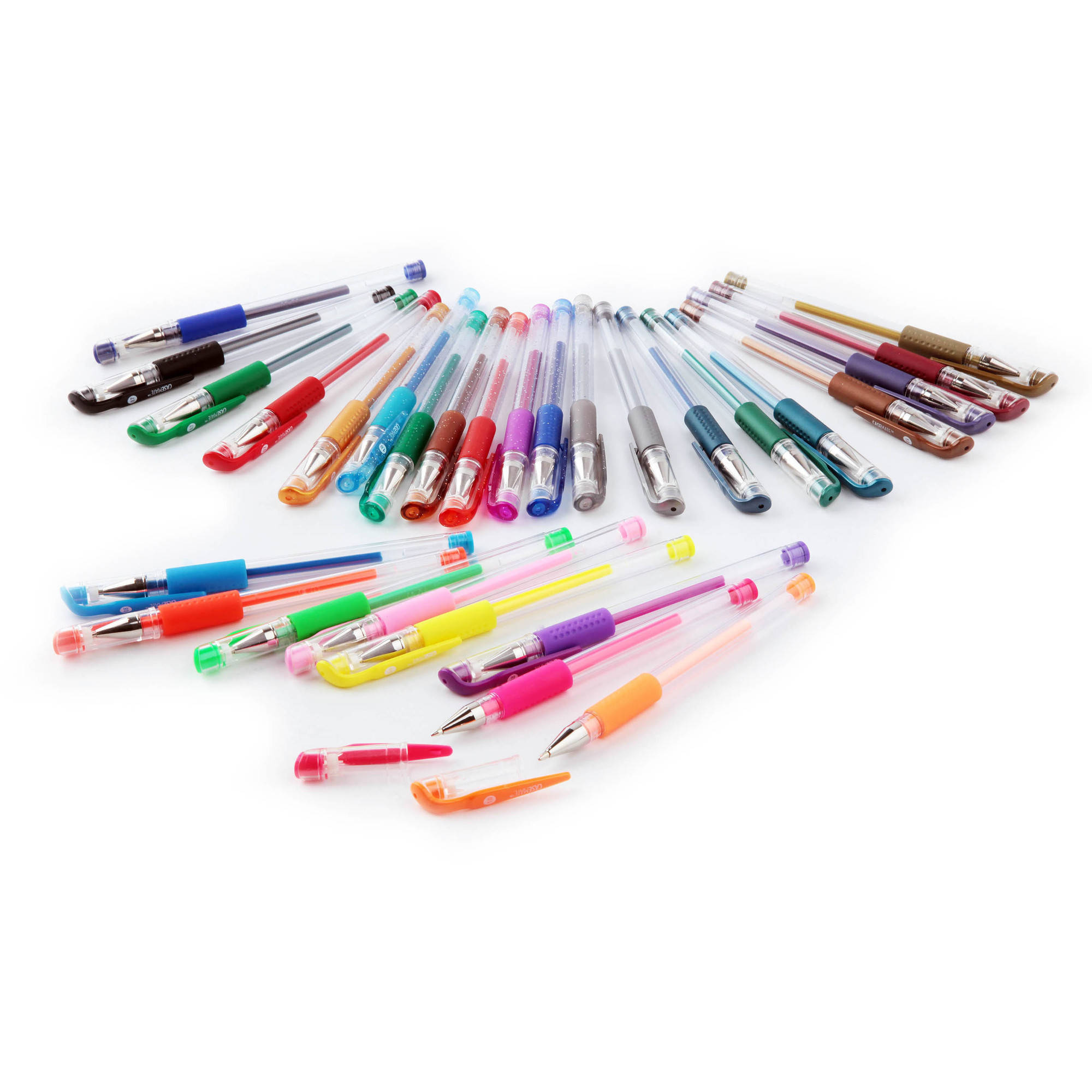 CaseMate Gel Pens, Assorted Ink, 36pk