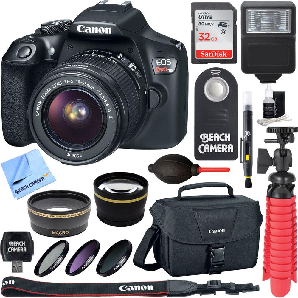 canon eos rebel t6 digital slr camera wifi + ef s 18 55mm