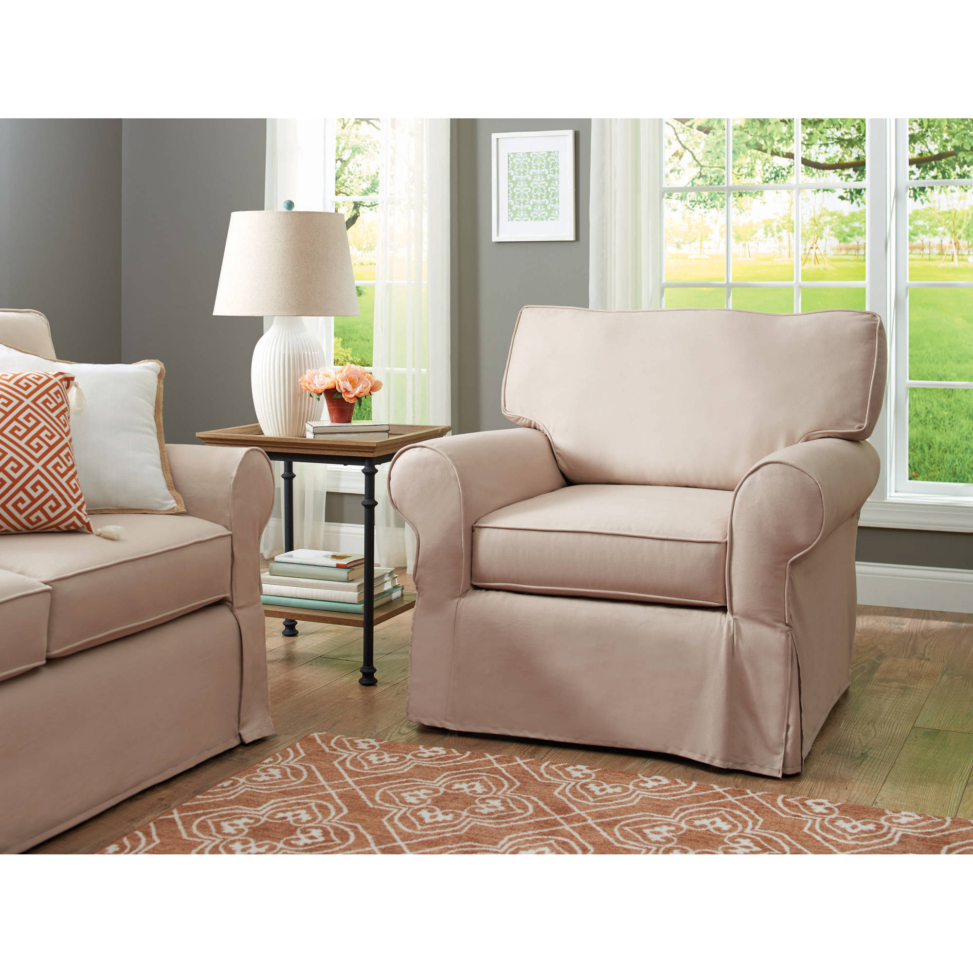 Better Homes and Gardens Slip Cover Pala Arm Chair, Multiple Colors