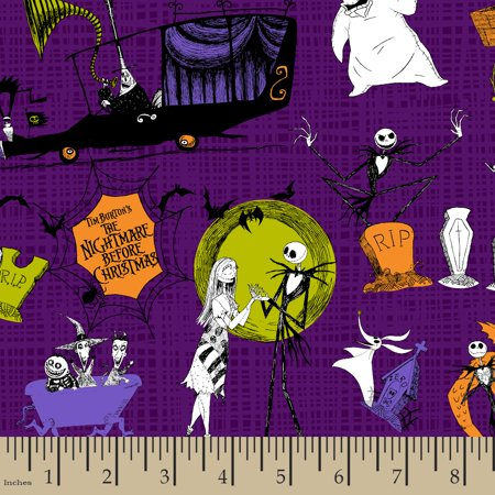 disney nightmare before christmas scenes fabric by the yard