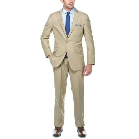 Crespo Men's Tan Slim Fit Italian Styled Two Piece - Kids Slim Fit Suits