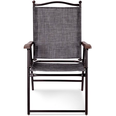 Costway Set of 2 Folding Sling Back Chair Camping Deck Patio Garden Beach - image 8 of 9