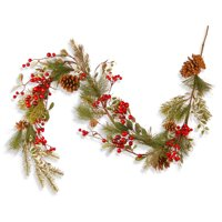 National Tree 60 inch Red Berry Garland