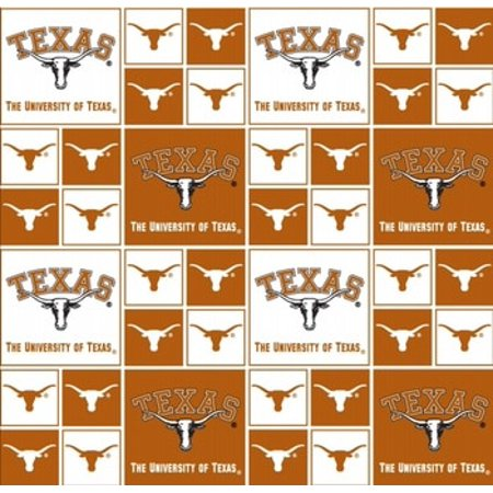 Texas Longhorns Fabric (University of Texas Fabric Fine Cotton Classic Geometric Design-Sold by the Yard)