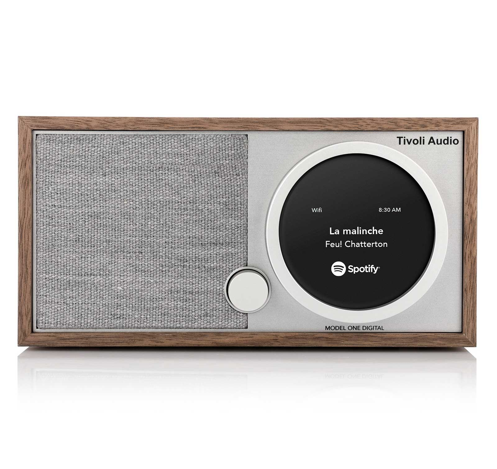 Tivoli Audio Model One Digital Walnut Gray Wi-Fi Bluetooth Table radio by Tivoli