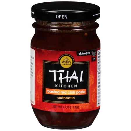 Asian Creation Thai Kitchen Authentic Roasted Red Chili Paste, 4 (Thai Red Curry Paste)