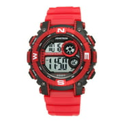Men's Round Sport Watch, Red