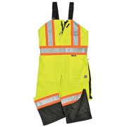 WORK KING Hi-Vis Insulated Bibs,Flo Green,5X S79831-5XL-FLGR