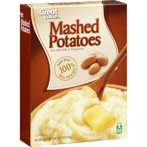Great Value Mashed Potatoes, 26.7 oz