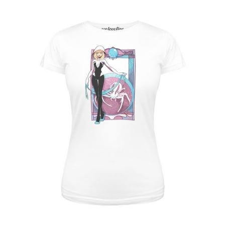 Nouveau Top - Marvel Spider-Gwen Nouveau Juniors White T-Shirt | S