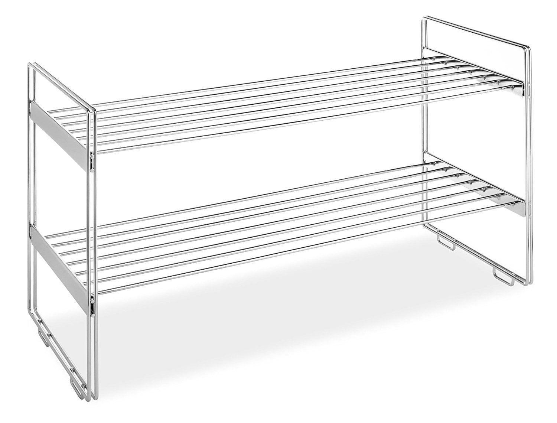 Stackable Closet Shelves, Chrome, USA, Brand Whitmor by