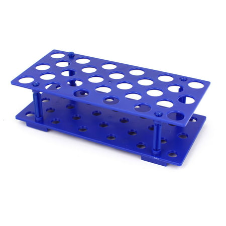 Laboratory Plastic 28 Hole 17mm Dia 15ML Centrifugal Test Tube Rack Holder (Test Tube Rack Metal)