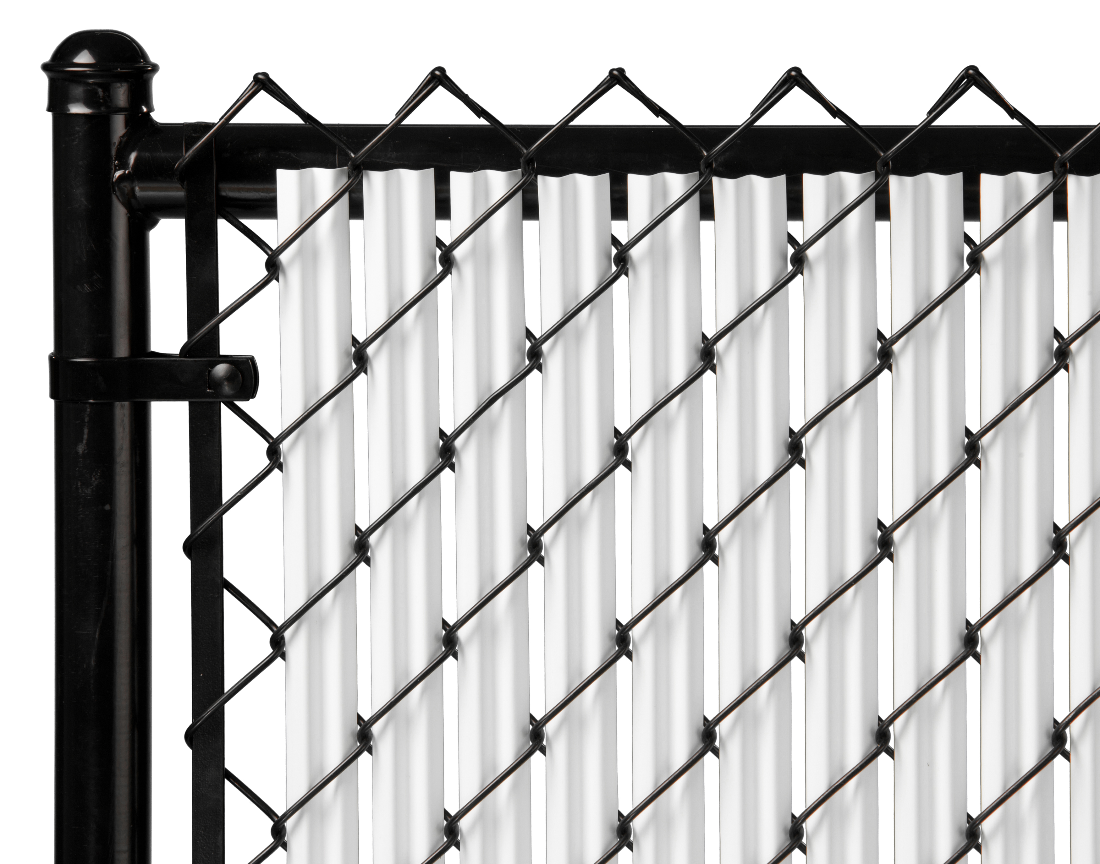 White 6ft Ridged Slat for Chain Link Fence by Supplier Generic