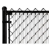 White 6ft Ridged Slat for Chain Link Fence