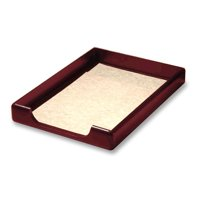Rolodex, Wood Tones Front Load Legal Trays, 1 Each, Mahogany