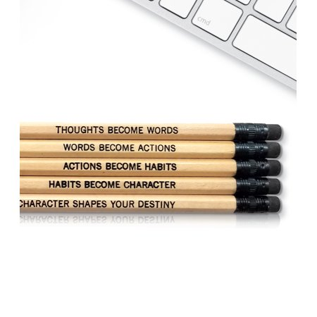 Gandhi Quote - Inspirational Pencils Engraved With Funny And Motivational Sayings For School And The Office