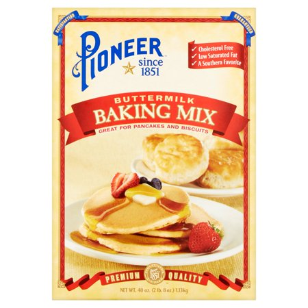 (2 Pack) Pioneer Brand Buttermilk Biscuit & Baking Mix, 40 (Best Southern Buttermilk Biscuits)