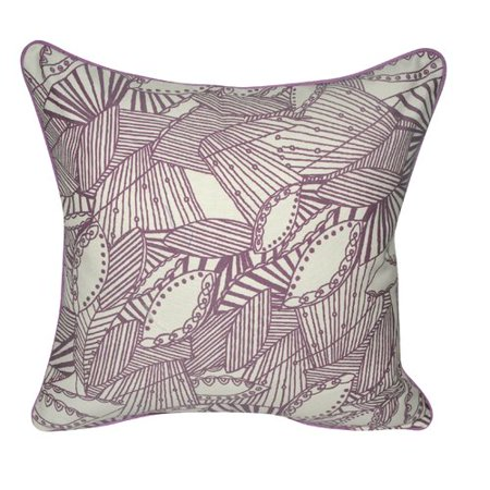 Loom And Mill Sketched Leaves Decorative Pillow Walmart Classy Loom And Mill Decorative Pillows