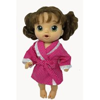 Doll Clothes Superstore Red Flower Pajamas With Robe Fits Baby Alive Potty Dance Sweet Tears And Little Baby Dolls