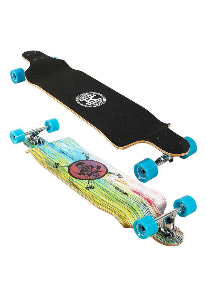 "Karnage 41"" Drop Down Cruiser Longboard with Cutouts (Blue) by Karnage"