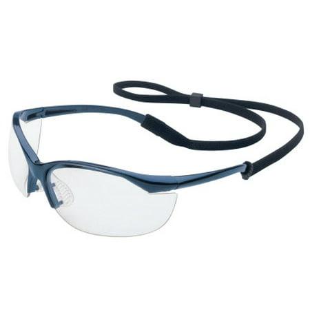 Vapor Eyewear, Clear Lens, Polycarbonate, Fog-Ban Anti-Fog, Metallic Blue (Ray Ban Eyewear Frames)