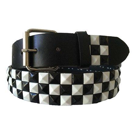 Halloween Wholesalers Black White Check Tiles Belt (Clock Dollar)