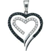 Gold and Diamonds PWZA1030-W 0. 35CT-DIA HEART PENDANT- Size 7